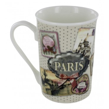 "Ceramic Mug, French vintage design ""Paris Powder"""