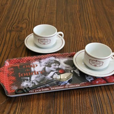 """French Small Tray """"Coup de Foudre"""""""