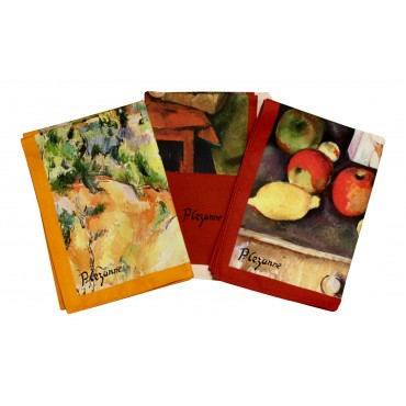 """Cotton Dish Towels - Set of 3 - French Design """"Cezanne"""" - Made in France"""