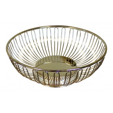 Silver Plated Fruit bowl, round shape, metal, French elegant style
