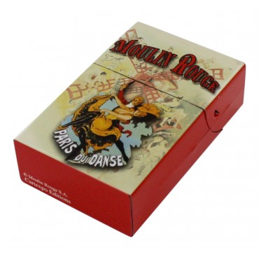 "Metal cigarette case, French vintage design ""Moulin Rouge"""