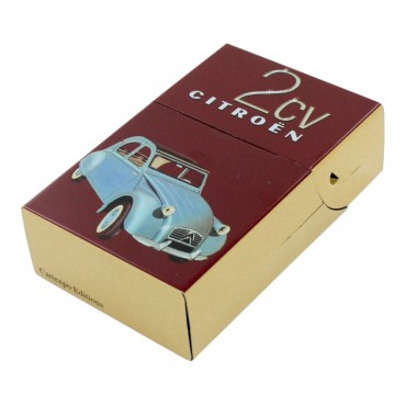 "Metal cigarette case, French vintage design ""Citroen 2 CV"""