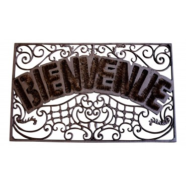 "Cast Iron doormat, French vintage design ""Bienvenue"""