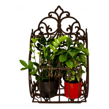 "Cast iron Wall Planter, French vintage design ""Fleur de Lys"""