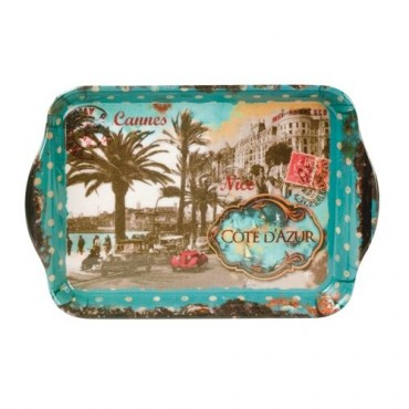 "French Extra Small Serving Tray ""Cote d'Azur"""