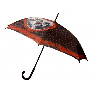 "Automatic wooden stick umbrella with shoulder bag, French vintage design ""Coup de foudre"""