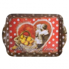 "French Extra Small Tray ""Madeleine je t'aime"""