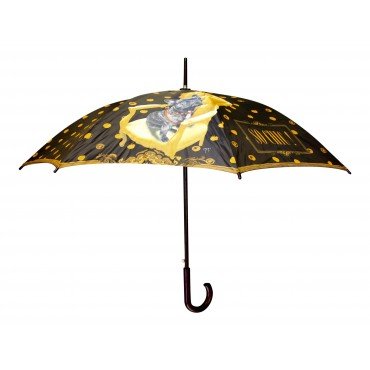 "Automatic wooden stick umbrella with shoulder bag, French vintage design ""So chic"""