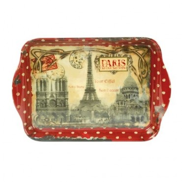 "French Extra Small Serving Tray ""Monuments de Paris"""