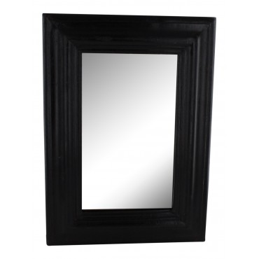 Dark wood framed mirror, French elegant design