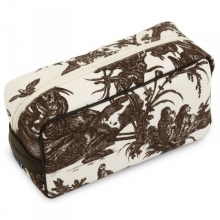 Toile de Jouy Toiletry bag Chocolat