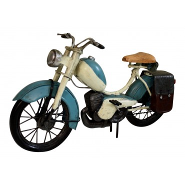 Moped model, Light blue metal, French vintage design