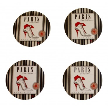 "Set of 2 magnet clips and set of 2 magnetic bottle openers,  French vintage design ""Paris"""
