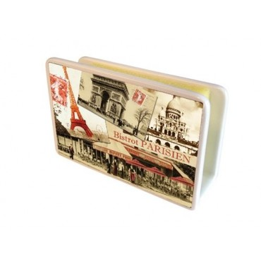 "French Ceramic Sponge Holder ""Bistrot Parisien"""
