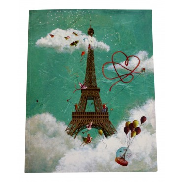 "Glossy Softcover Notebook - 6.7"" X 8.7"" - French design ""Tour Eiffel"""