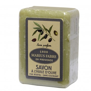 "Savon de Marseille, 8.8 oz, all natural vegetable oils, fragrance ""sans parfum"" (unscented)"