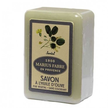 "Savon de Marseille, 8.8 oz, all natural vegetable oils, fragrance ""Santal"" (sandalwood)"