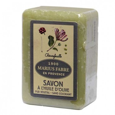 "Savon de Marseille soap, 5.3 oz, all natural vegetable oils, fragrance ""chevrefeuille"" (honeysuckle)"