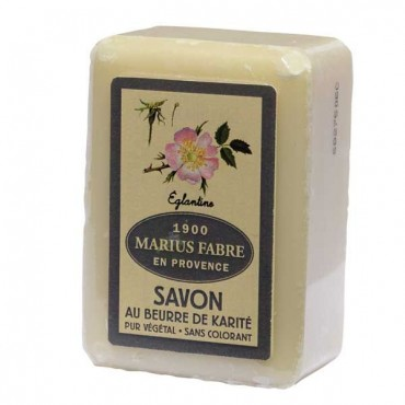 "Savon de Marseille soap, 8.8 oz, all natural vegetable oils, fragrance ""Eglantine"" (wild rose)"