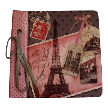 "Paris travel journal , French vintage  design ""Voyage en France"", 6.5"" x 6.5"""