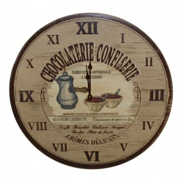 "15 1/2""  Wooden Wall Clock, French vintage design ""Maison Lebrun """
