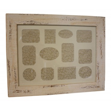 Wooden collage picture frame, French vintage design