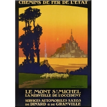 "Metal Card 5.9"" x 8.3"" Mont St Michel"