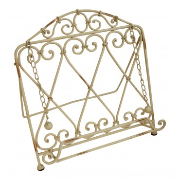 "Wrought Iron cookbook holder, French vintage design ""Arabesque"""