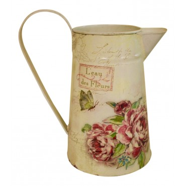 "Flower watering can/pitcher, French vintage design ""L'eau des Fleurs"""