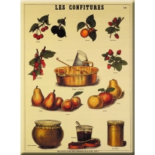 "French Metal Card 5.9"" x 8.3"" LES CONFITURES"