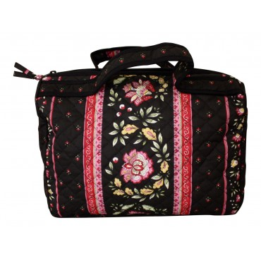 Provence fabric cosmetic bag - Black - Made in France