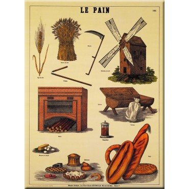 "French Metal Sign 5.9""x8.3"" LE PAIN bread"