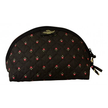 Provence fabric small cosmetic bag - Black - Made in France