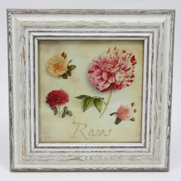 French Square Frame Rose