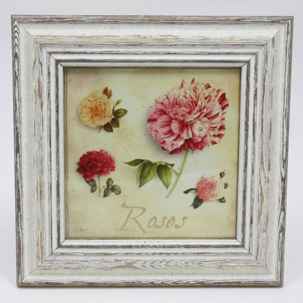 French Square Frame Rose - My French Neighbor