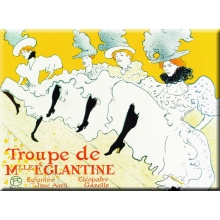 French Metal Card 5.9 x 8.3 Troupe Melle Eglantine