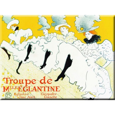 "French Metal sign Troupe Eglantine 5.9""x8.3"""