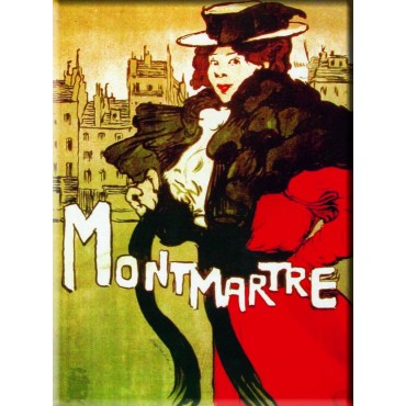"French Metal Sign Montmartre M. Dethomas 5.9""x8.3"""