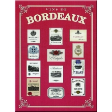 "French Metal Sign 5.9"" x 8.3"" Vins de Bordeaux"