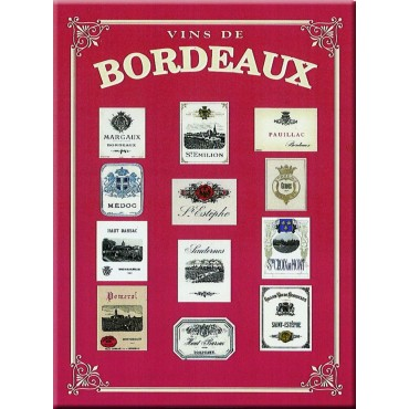 "French Metal Sign Vins de Bordeaux Wines 5.9""x8.3"""