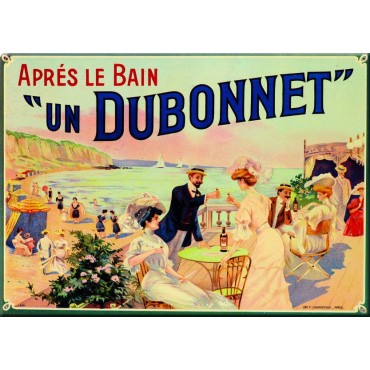 "French Metal Sign Dubonnet 5.9""x8.3"""