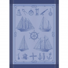Garnier Thiebaut French Kitchen Towel Bateaux Marine