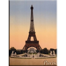 "Metal Card 5.9"" x 8.3"" Eiffel tower color"