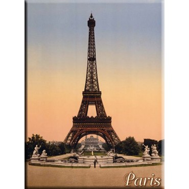 "French Metal Sign Eiffel Tower Paris Colors 5.9""x8.3"""
