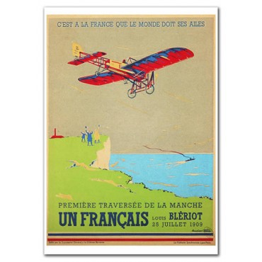 "French Metal Sign Bleriot by L. Cave 5.9""x8.3"""