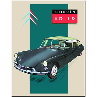 "French Metal Sign Citroen id19 DS 5.9""x8.3"""