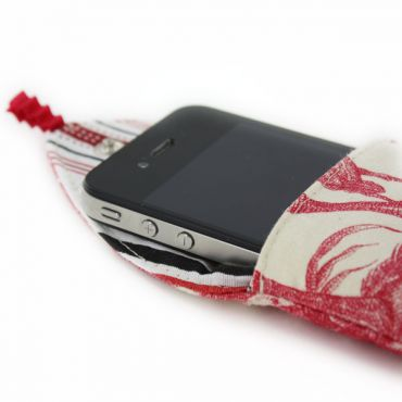 red or blue Toile iphone case