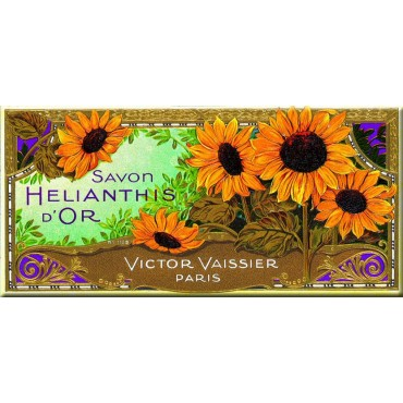 """French Metal Sign Savon Helianthis d'or 4.3""""x10.6"""""""