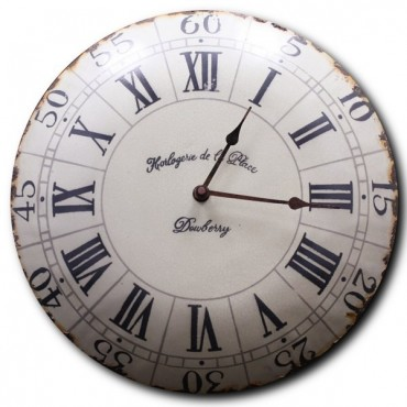 "French Old Style Clock - Horlogerie - 13"" - Enamelled"