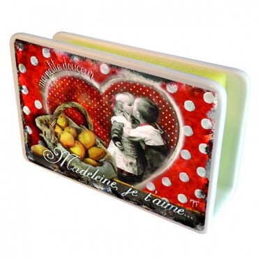 "French Ceramic Sponge Holder ""Madeleine je t'aime"""